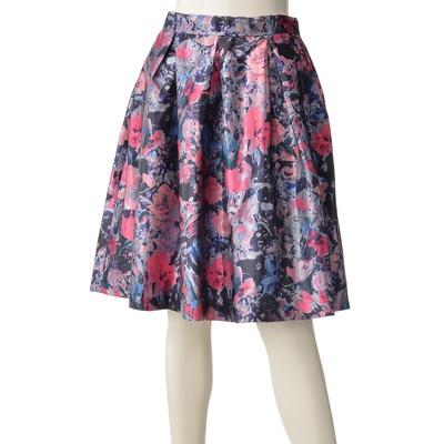BRNYピース フローラルプリントスカート