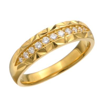 24K ダイヤモンド デザイン リング 「インシアーメ」