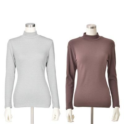 BVD極厚10分袖ハイネックシャツ カラーが選べる2点セット