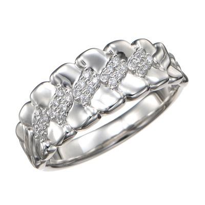 純PT ダイヤモンド デザインリング 「ファッシ」