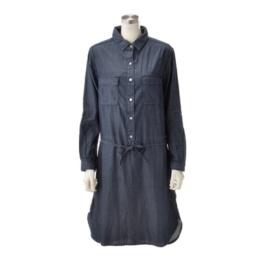 AM テンセルデニムのシャツワンピース