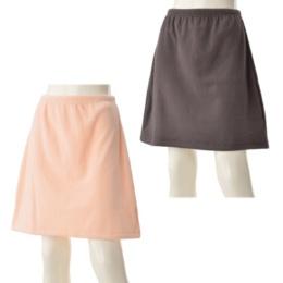 GUNZEあったかフリース スカート カラーが選べる2点セット