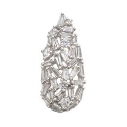 18KWG テーパーダイヤモンドペンダントヘッド計0.75ctUP