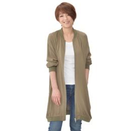 MJ 大人カジュアル MA1ロングジャケット