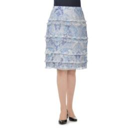 ラメ素材ペイズリープリント スカート