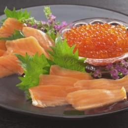醤油漬イクラ&サーモントラウトスライス