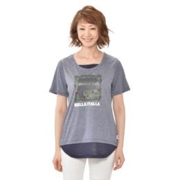 FILA UVフェイクレイヤードTシャツ