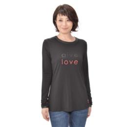Peace Love World シャイニーロゴ長袖Tシャツ