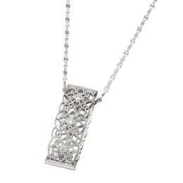 18K ダイヤモンド ネックレス [ダイヤモンドのハーフ&ハーフ]