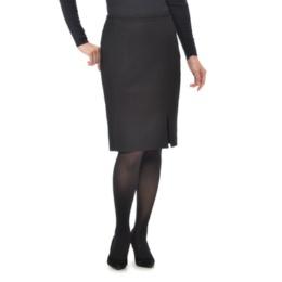 STELLA K ウールサキソニーストレッチWスリットスカート