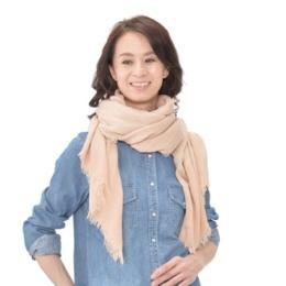 ルナ・ジュメール 格子織×無地ストール