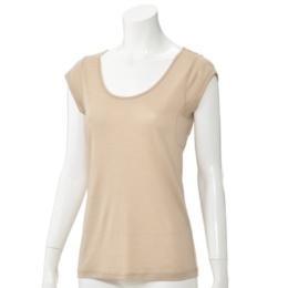 片倉シルク シルク100% 汗取り付きフレンチ袖