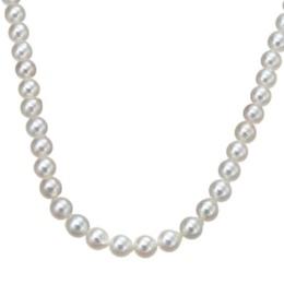 18K WG ナチュラルカラーアコヤ真珠 ロングネックレス