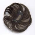 ソフィアン人毛100%ミニ部分かつら[弓形ベース]/明るい栗色