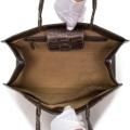 ZAO マットシャムクロコダイル ジュディトートバッグ[サイミンセス]/チョコ