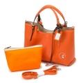 ペレボルサ アンミカコラボ2WAYトートバッグ/ネーブルオレンジ