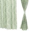 イージーオーダードレープカーテン100cm2枚組 221-239cm/グリーン