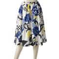 SL オリジナルプリントギャザースカート/ブルー