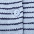 飾り編みニットボーダープルオーバー/サックス