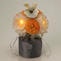フォルモサ LEDフラワー ラナンキュラス アレンジS[人感センサー付]/オレンジ