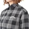 チャンピオン 長袖ワンピースシャツ/チャコールグレー