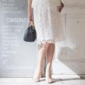 CLEO SUN 総レーススカート/ホワイト