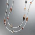 縞瑪瑙&水晶 デザイン ネックレス