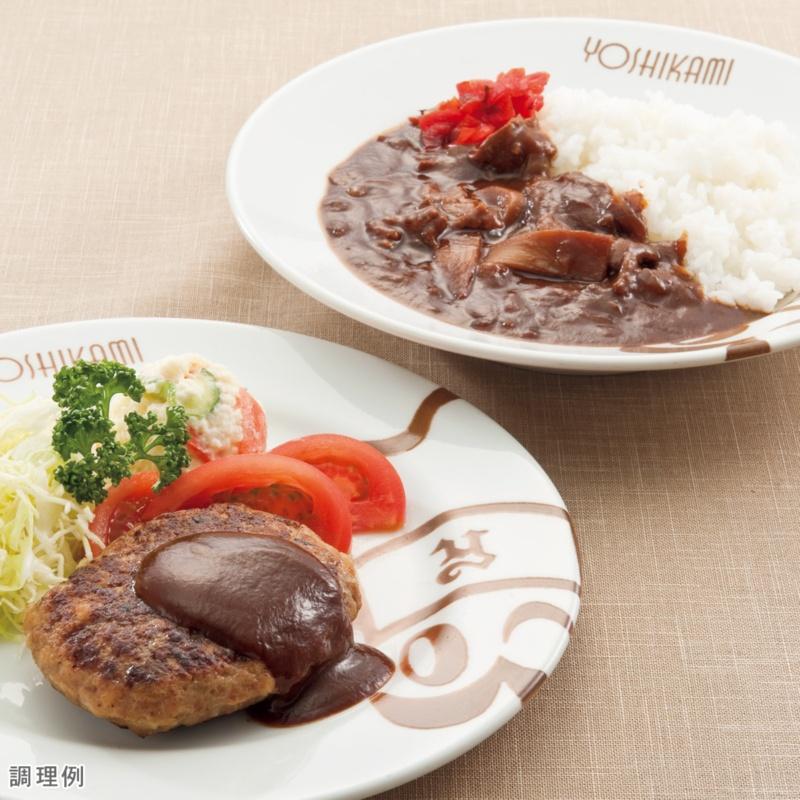 浅草ヨシカミ ハヤシライスの具&ハンバーグ 12食セット