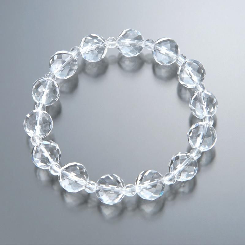 カット水晶 デザイン ブレスレット