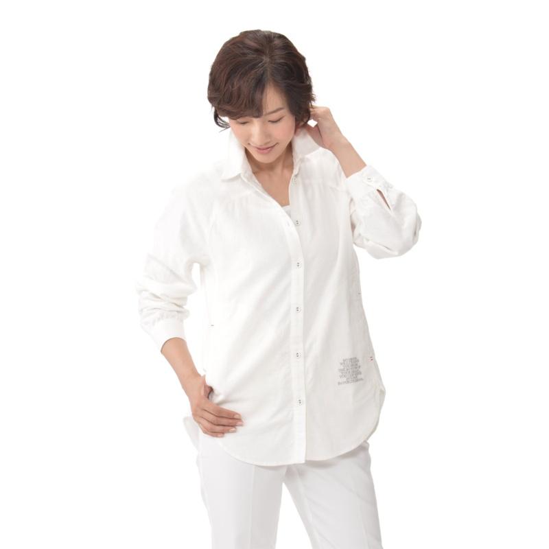 calma 変形ラグラン チュニックシャツ