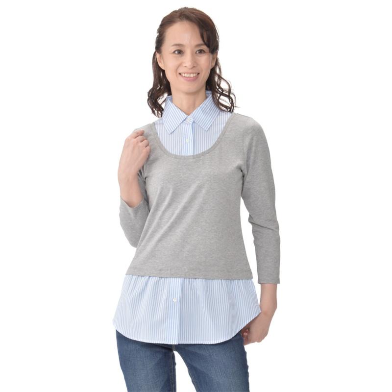 AN 着て楽々なシャツプルオーバー