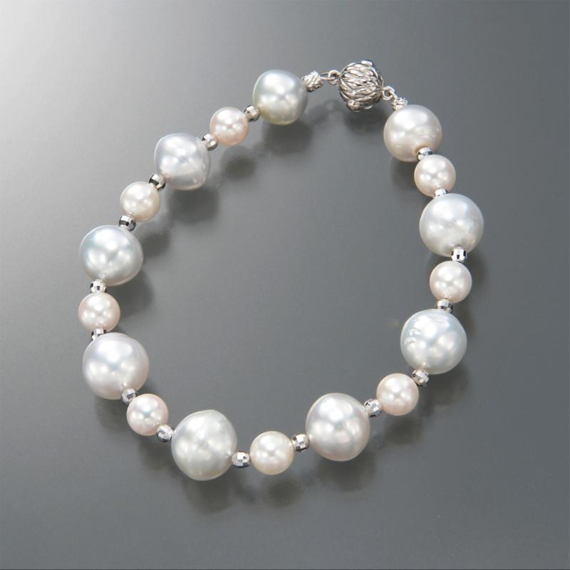 WhiteSkin 白蝶真珠&アコヤ真珠 ブレスレット
