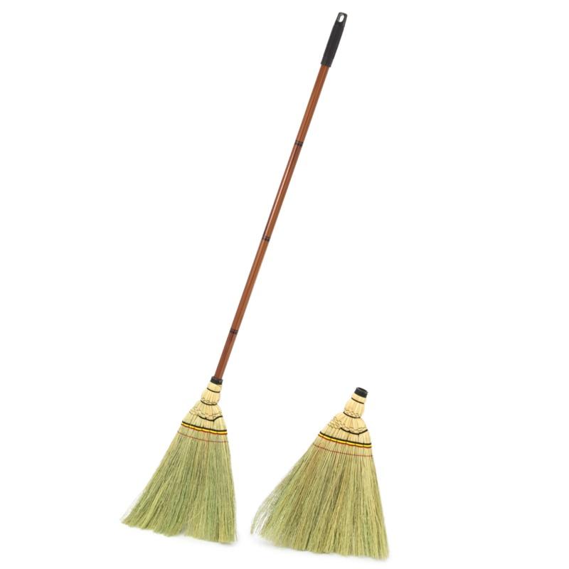 手軽にお掃除!天然草の大工ほうき 特別セット