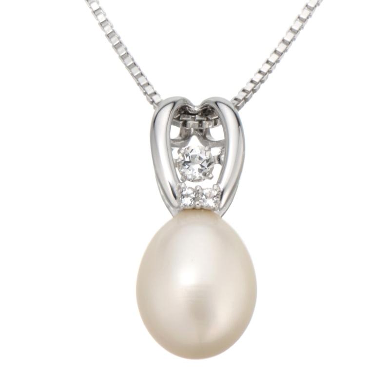 [トゥインクルセッティング] 淡水真珠トゥインクル ペンダント