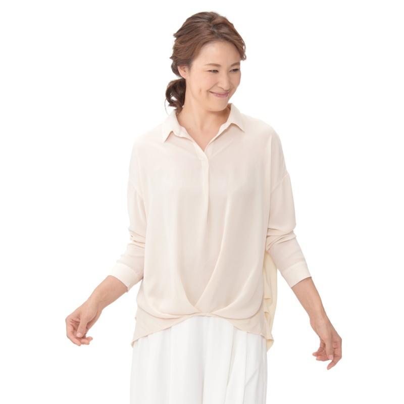 Provador 異素材使いタックシャツ