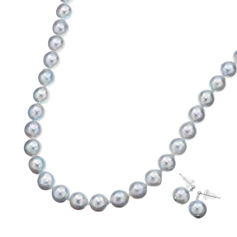 アコヤ真珠 ナチュラルカラー 8.5mm珠 ネックレス セット【QVC】40代・50代レディースファッション