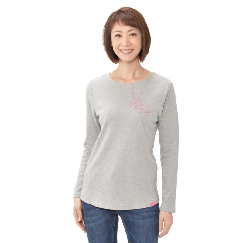 KiKKi バード刺繍Tシャツ