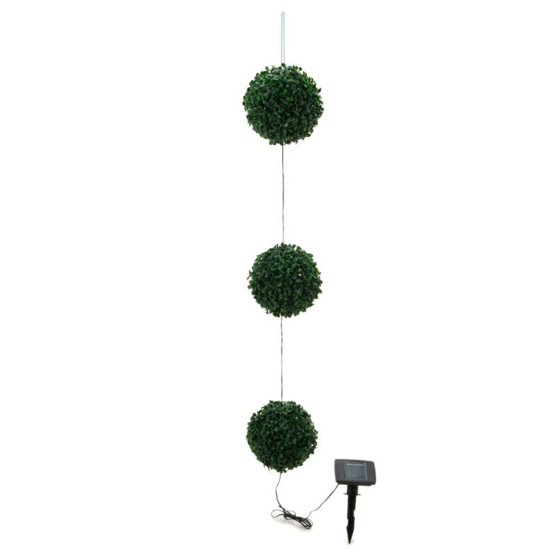 フォルモサ フラワーズ LEDソーラー グリーンボールミニ3連