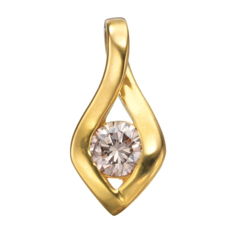 24K ダイヤモンドデザイン ペンダントヘッド