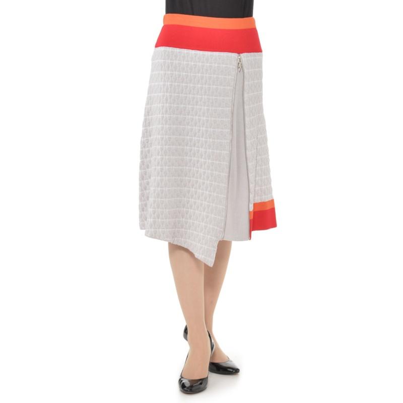 SUPERLADY 膨れジャガードアシンメトリーニットスカート