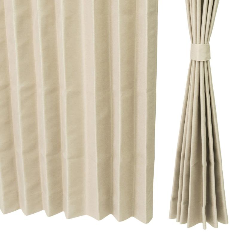 熱と光を遮るドレープカーテン高級仕立100cm2枚組